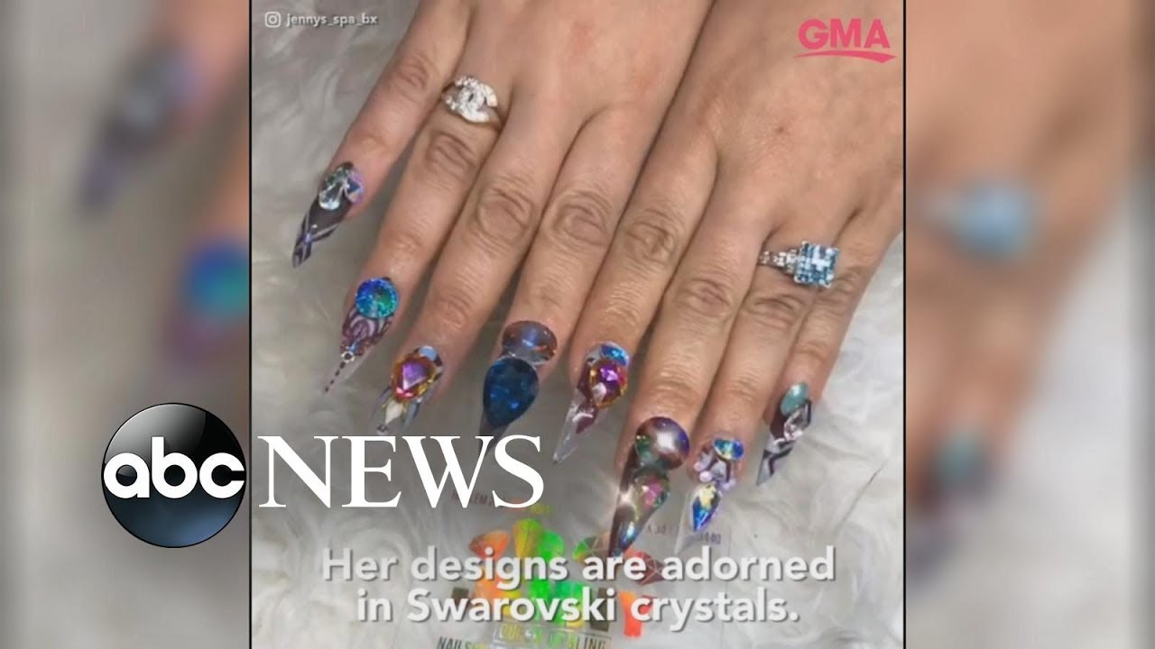 Meet The Woman Behind Cardi B S Blinged Out Manicure Youtube