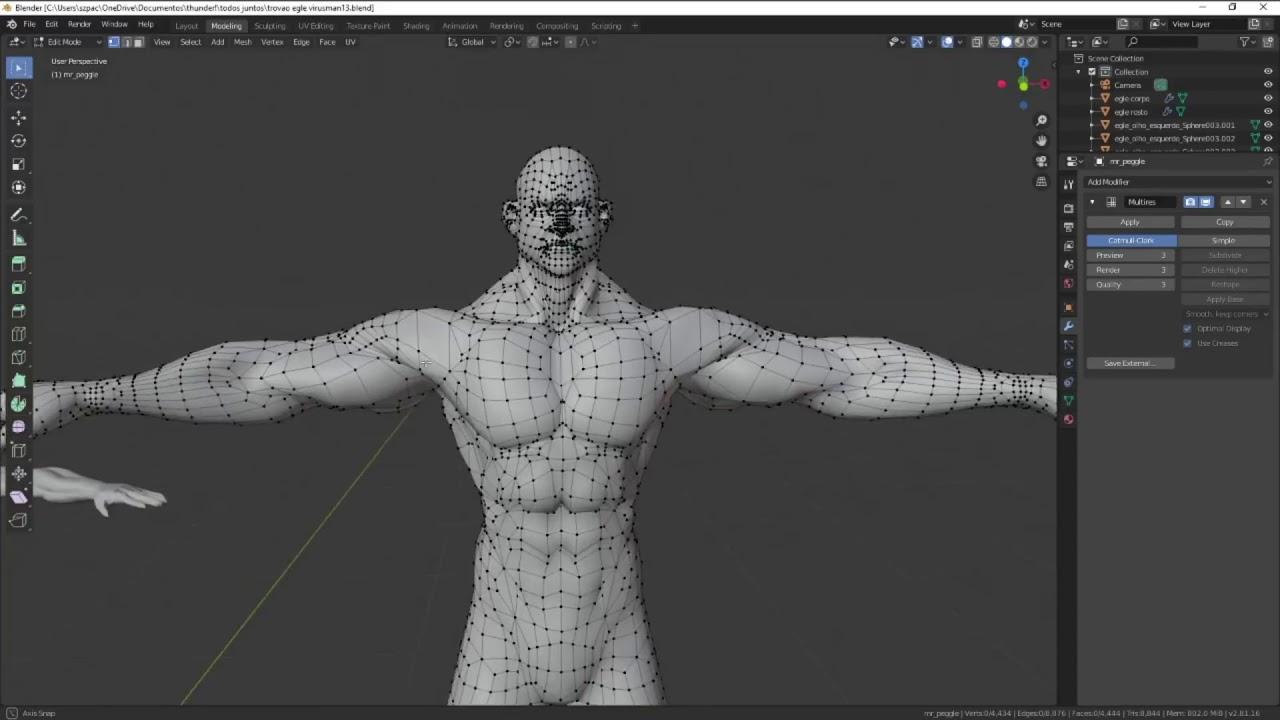 szpace 3D tecnica no blender 2.8
