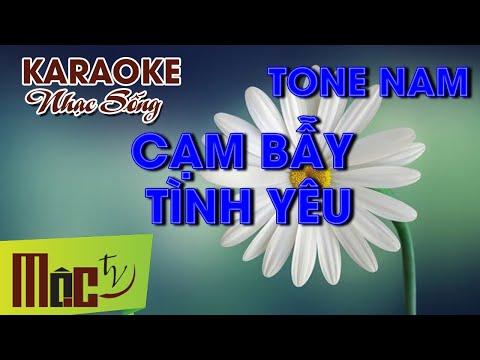 Karaoke CẠM BÃY TÌNH YÊU Remix - Phan Đình Tùng - [NHẠC SỐNG ORGAN]