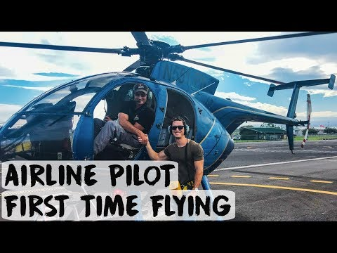INTERNATIONAL AIRLINE PILOT FIRST HELICOPTER FLIGHT | Hawaii - VLOG #52