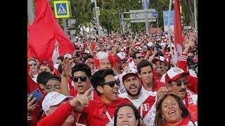 Miles de Peruanos en la Ciudad del Mundial de Ekaterimburgo, Rusia