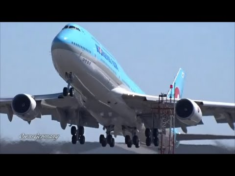 1st Korean Air Boeing 747-8i HL7630 Delivery Flight Engine Startup + TakeOff @ KPAE Paine Field