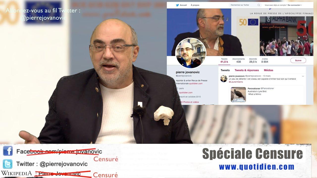Pierre Jovanovic : Vidéo spéciale censure