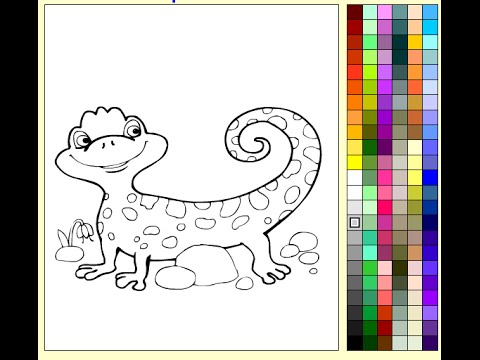 cartoon lizard coloring pages - photo#40