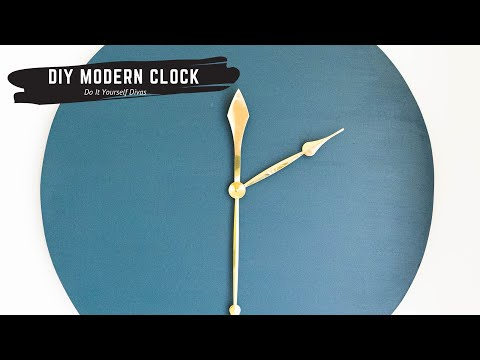 DIY Modern Clock - Cut A Circle From MDF Board/Wood