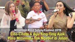 Heboh Cita-Citata & Ayu Tingting Goyang Peserta Millennial Road Safety Festival 2019