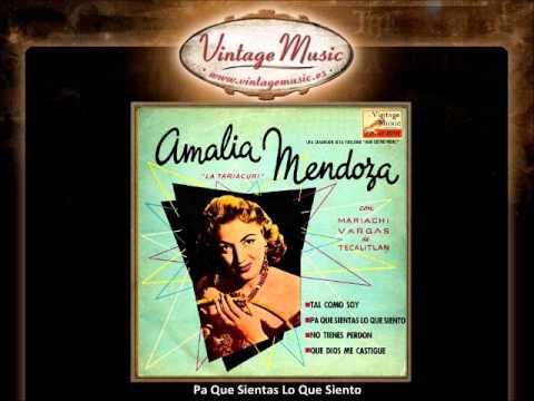 Amalia Mendoza -- Pa Que Sientas Lo Que Siento (VintageMusic.es)