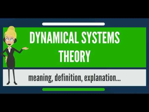 What is DYNAMICAL SYSTEMS THEORY? What does DYNAMICAL SYSTEMS THEORY mean?