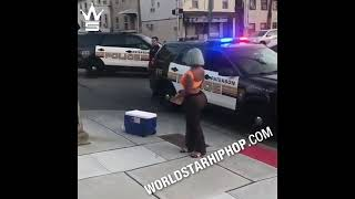 Big Booty Woman Gets Busted Down By New Jersey Police For Selling Water Bottles To Allegedly Help...