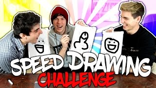 SPEED DRAWING CHALLENGE YOUTUBERS EDITION - Ft. Sive y Glowen