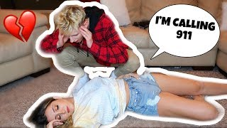 I Passed Out Prank On Boyfriend! (he freaked out)