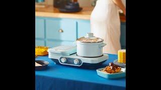 아침 식사 다기능 와플 샌드위치 쿠키 기계 미니 요리
