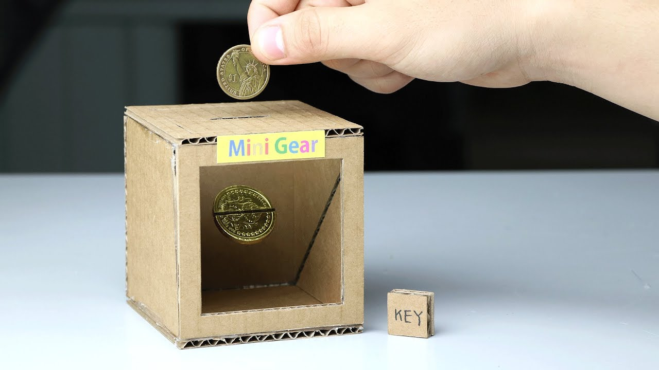How to make magic coin box piggy bank for kids youtube for How to make a coin bank