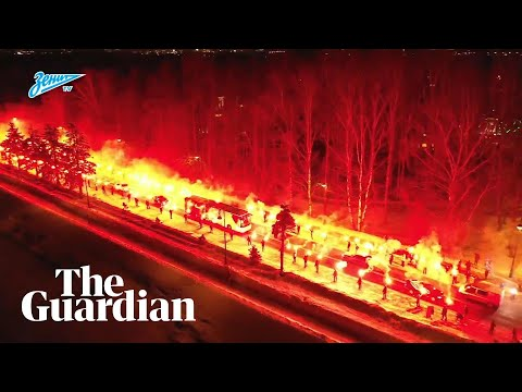 Zenit fans give team fiery welcome before Europa League