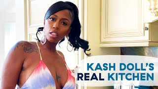 Kash Doll Shows Us Her Huge Home Kitchen And Champagne Collection