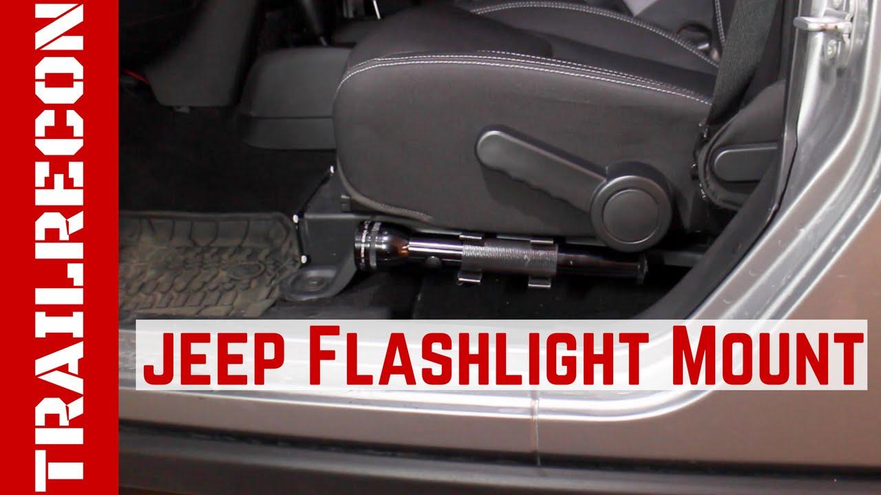 Car First Aid Kit >> Custom Jeep Flashlight Seat Mount - YouTube