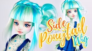 How to Make a Doll Wig | Side Ponytail | Mozekyto #9