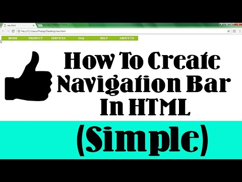 How To Create Navigation Bar In HTML (Simple)