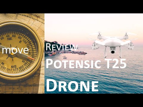 Review Potensic T25 Drone with 2K Camera for Adults, Auto Return Home.