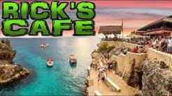 RICK'S CAFE and CLIFF DIVING - Negril, Jamaica 4K