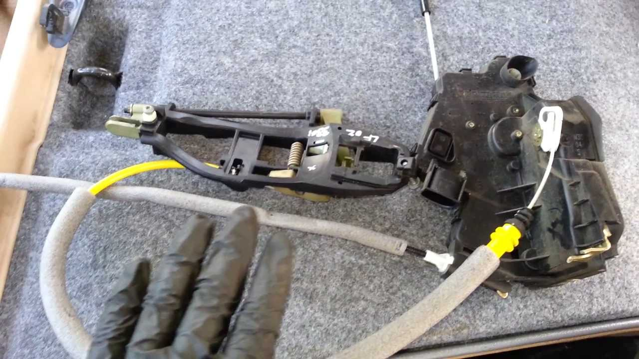 Bmw E46 330i 323i 325i Sedan Door Handle Lock Actuator Cable Diagram Youtube