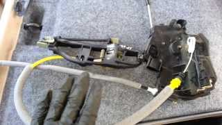 BMW E46 330i 323i 325i Sedan Door Handle Lock Actuator Cable Diagram