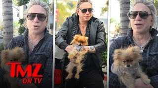 Mickey Rourke Talks About His Very very Interesting Dog | TMZ TV