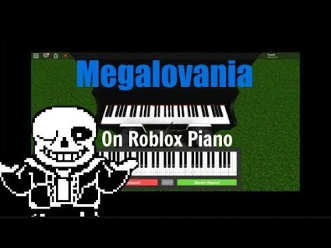Megalovania On Roblox Piano Youtube