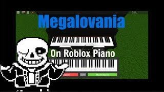 Megalovania On Roblox Piano
