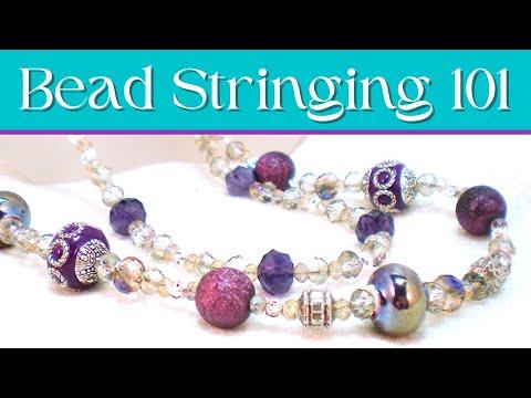 Beading 101 - Bead Stringing Basics Necklace Tutorial