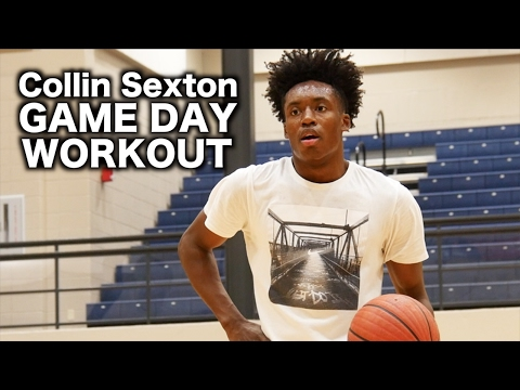 Collin Sexton FULL Game Day Workout with Nick Stapleton!! How To Train Like a McD's All-American
