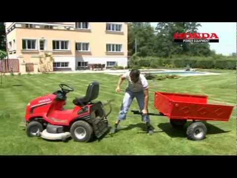 画像: Zahradní (travní) traktor Honda HF 2620 HME (2010) youtu.be