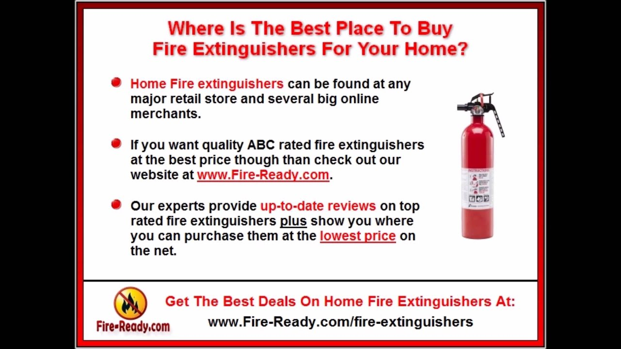 where to buy a fire extinguisher online home fire extinguisher buyers guide youtube. Black Bedroom Furniture Sets. Home Design Ideas