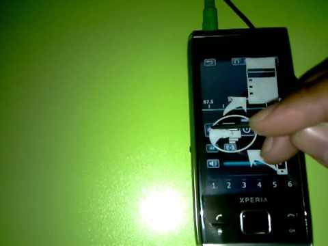 Sony Ericsson Xperia X2 con Radio FM