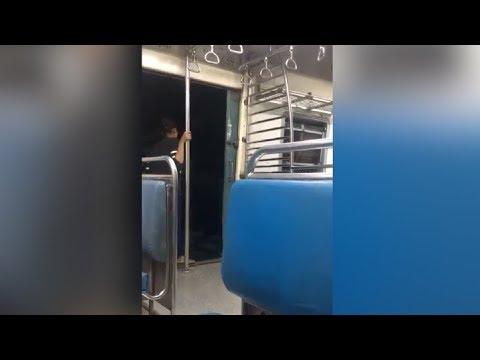 Mumbai | Woman caught on cam doing stunts on train