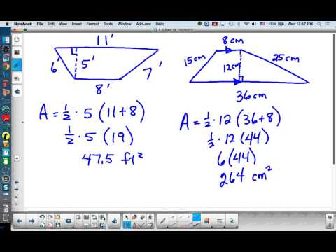 Basic Geometry Lesson 8.6 Area of Trapezoid
