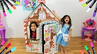 Sally Build and Color Playhouse with Markers for Kids