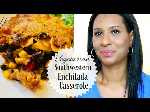 Easy Delish Southwestern Enchilada Casserole | Vegetarian Meal | ThymeWithApril