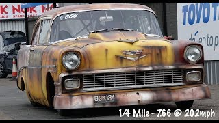 Street Legal 1956 Chevy 210 - 1/4 Mile 7.66 @ 202mph
