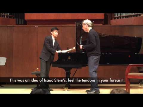 Weilerstein master class: tendons that control left hand