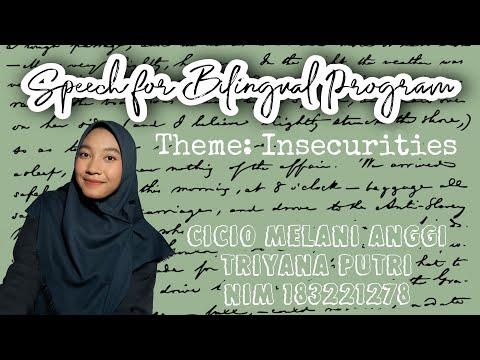 INSECURITIES || SPEECH FOR BILINGUAL PROGRAM