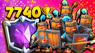 HIGHEST TROPHIES EVER using ROYAL RECRUITS!