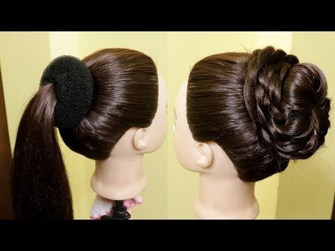 beautiful-high-bun-juda-hairstyles- -easy-hairstyles- -quick-hairstyles- -kgs-hairstyles