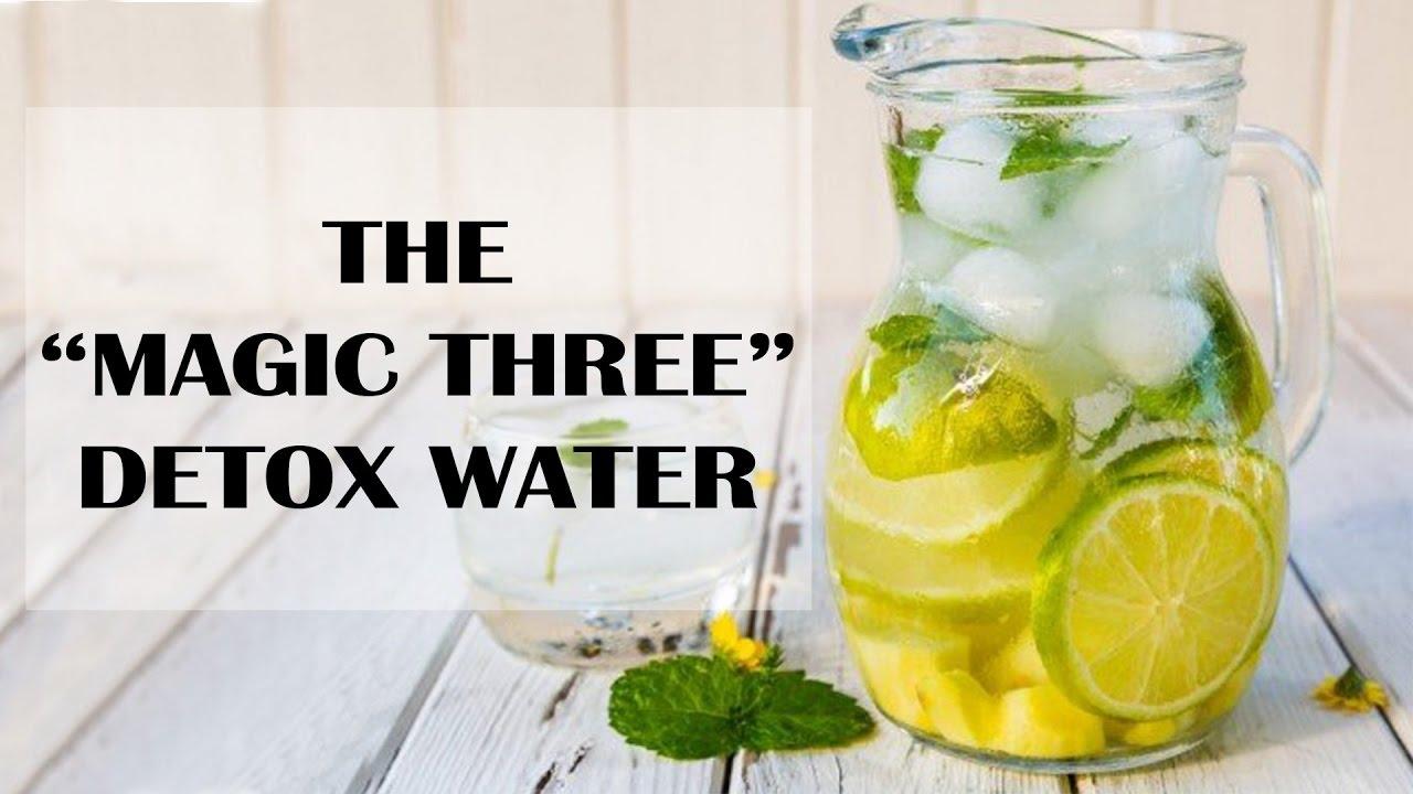 "The ""Magic Three"" Detox Water"