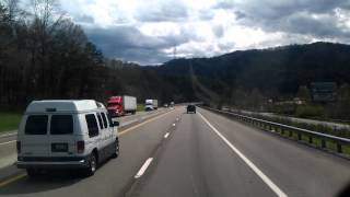 Interstate 40 East Tennessee headed towards North Carolina