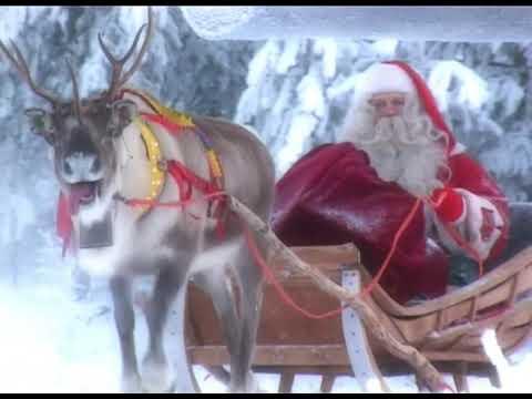 Papá Noel video: Salida de Papá Noel, Laponia Finlandia - Rovaniemi - Santa Claus
