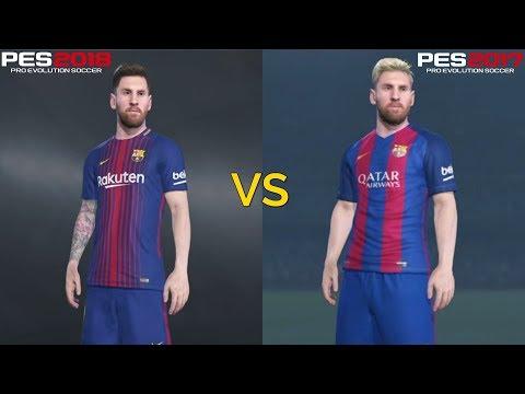 PES 2018 VS PES 2017 Graphics Comparison (PS4 Pro)