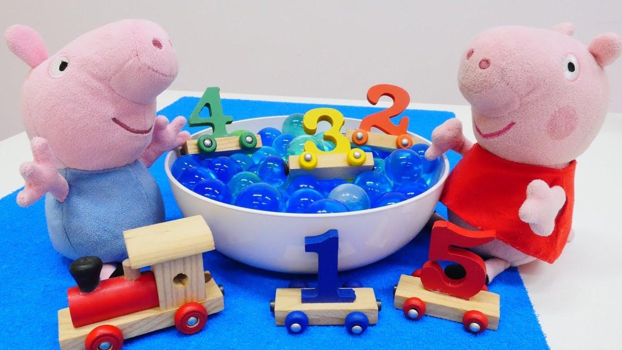 PEPPA WUTZ Video Zahlen lernen mit Peppa Wutz Spielzeug