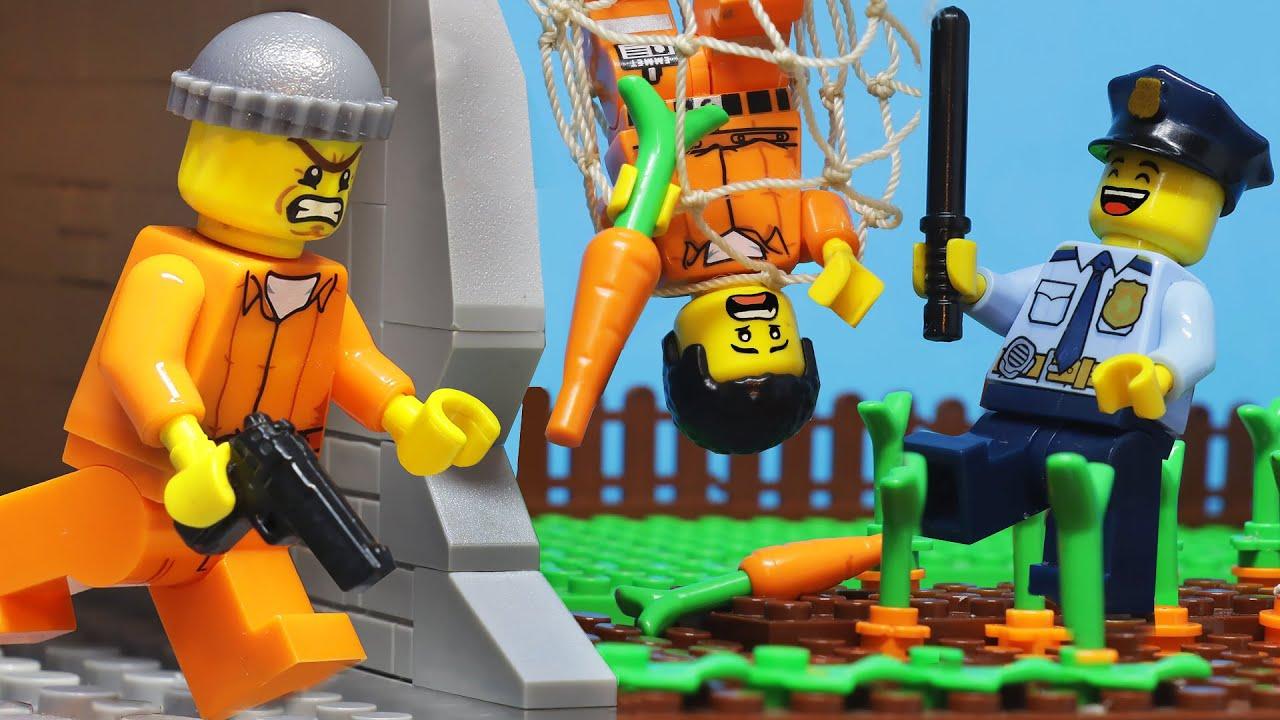 Lego Prison Break New Episode: Carrot Plan | Lego Police Prison Break Compilation | Brick Rising