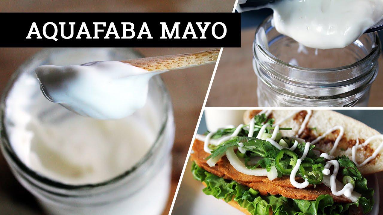 VEGAN MAYONNAISE // Aquafaba Mayo | Mary's Test Kitchen